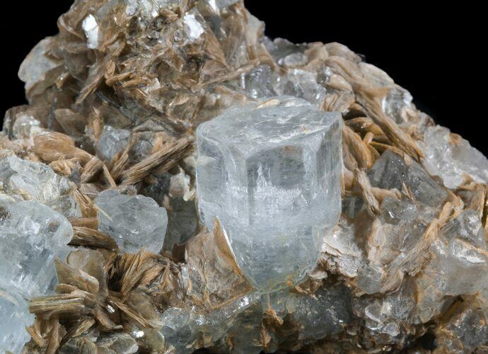 "3.55"" Aquamarine Crystals With Muscovite - Pakistan"