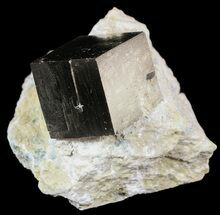 ".8"" Pyrite Cube In Matrix - Navajun, Spain For Sale, #51224"