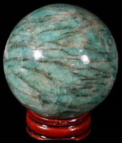 "2.4"" Polished Amazonite Crystal Sphere - Madagascar"