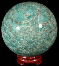 "Buy 3.0"" Polished Amazonite Crystal Sphere - Madagascar - #51625"