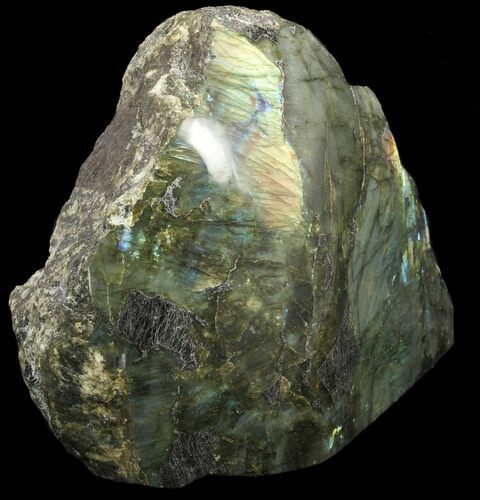 "12.5"" Flashy Labradorite Piece (One Side Polished) - 22 lbs"