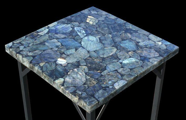 "20 x 20"" Labradorite End Table - Reduced Price"