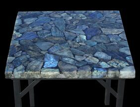 "Buy 20 x 20"" Labradorite End Table With Powder Coated Base - #52942"