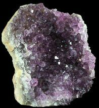 Quartz var. Amethyst, Calcite - Fossils For Sale - #52593