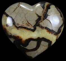 "4.5"" Polished Septarian ""Heart""  For Sale, #54683"