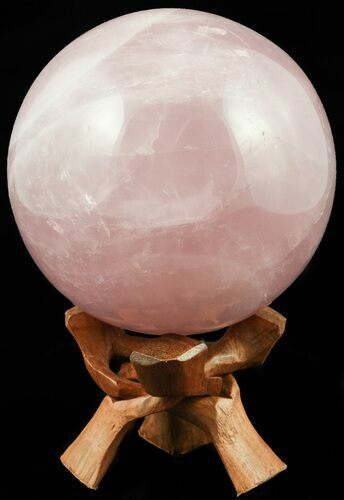 "4.7"" Polished Rose Quartz Sphere - Madagascar"
