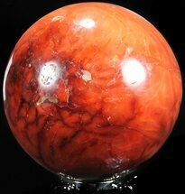 "Buy 4.1"" Red Carnelian Agate Sphere - Madagascar - #55051"