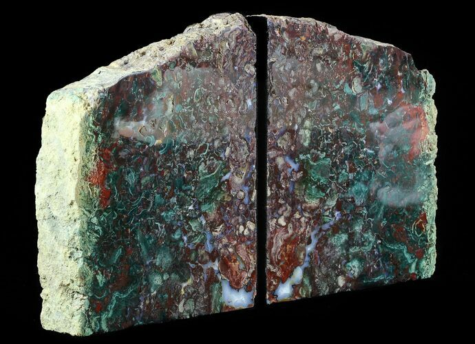 "8.4"" Jasper Replaced Petrified Wood Bookends - Oregon"