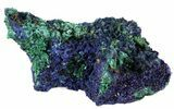 "2.1"" Sparkling Azurite Crystal Cluster with Malachite - Laos - #56059-1"