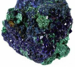 "Buy 2.1"" Sparkling Azurite Crystal Cluster with Malachite - Laos - #56059"