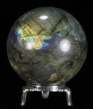 "Buy 2.5"" Flashy Labradorite Sphere - With Nickel Plated Stand - #53572"