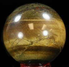 "2.2"" Polished Tiger Iron (Tiger's Eye) Sphere For Sale, #37682"