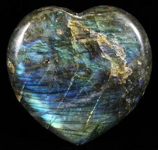 "Buy 3.1"" Flashy Polished Labradorite Heart - #58891"