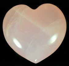 "3.4"" Polished Rose Quartz Heart - Madagascar For Sale, #59108"