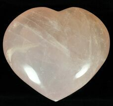 "3.9"" Polished Rose Quartz Heart - Madagascar For Sale, #59111"
