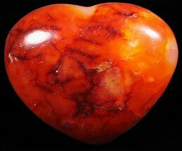 "3.2"" Colorful Carnelian Agate Heart For Sale, #59510"