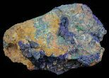 "Large, 8.5"" Malachite with Azurite Specimen - 12 1/2 lbs - #60723-1"