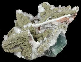 "12.3"" Calcite, Pyrite and Fluorite Association - Fluorescent For Sale, #61220"