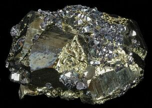 "3.1"" Gleaming Pyrite With Galena - Peru For Sale, #59597"