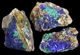 Sparkling, Drusy Azurite & Malachite Wholesale Lot - 34 Pieces - #61607-1
