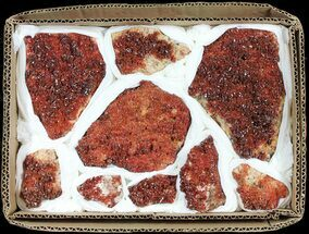 Vanadinite & Barite - Fossils For Sale - #61632