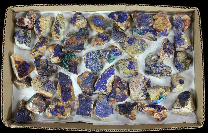 Wholesale Flat: Sparkling, Drusy Azurite & Malachite - 44 Pieces