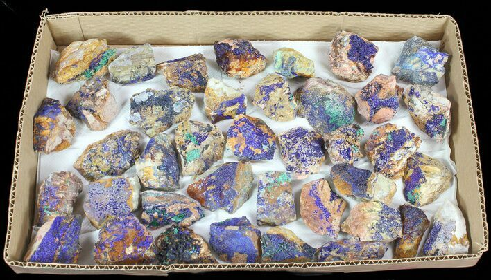 Wholesale Flat: Sparkling, Drusy Azurite & Malachite - 37 Pieces