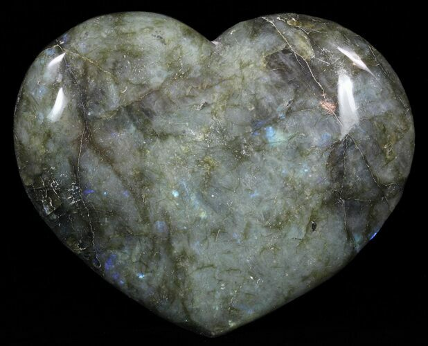 "4.5"" Flashy Polished Labradorite Heart"