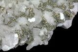 "8.3"" Quartz, Calcite, Pyrite and Fluorite Association - Fluorescent - #61574-4"