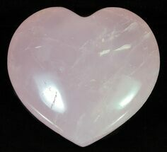 "2.8"" Polished Rose Quartz Heart - Madagascar For Sale, #63029"