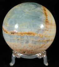 "3"" Polished Blue Onyx Sphere - Argentina For Sale, #63263"