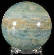 "3"" Polished Blue Onyx Sphere - Argentina For Sale, #63266"