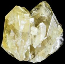 "Buy 2"" Gemmy, Yellow Barite Crystals - Meikle Mine, Nevada - #63361"