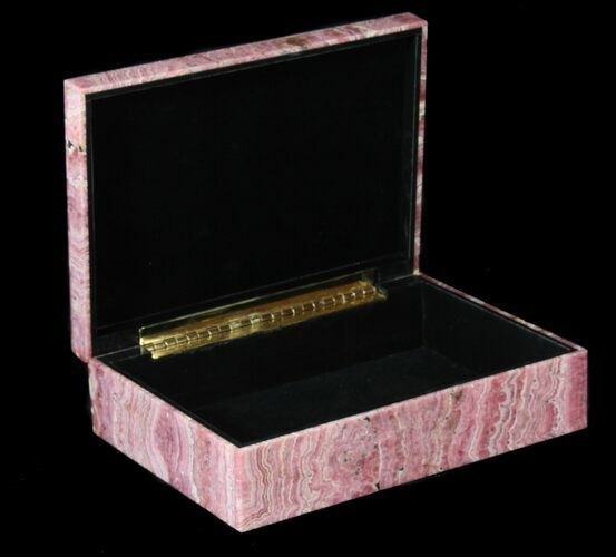 "7.8"" Wide Rhodochrosite Jewelry Box - Stunning"