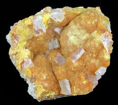 "2"" Orpiment With Barite Crystals - Peru For Sale, #63800"