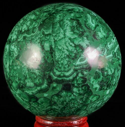 "Gorgeous 2.4"" Polished Malachite Sphere - Congo"
