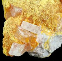 "Buy 1.8"" Orpiment With Barite Crystals - Peru - #63787"