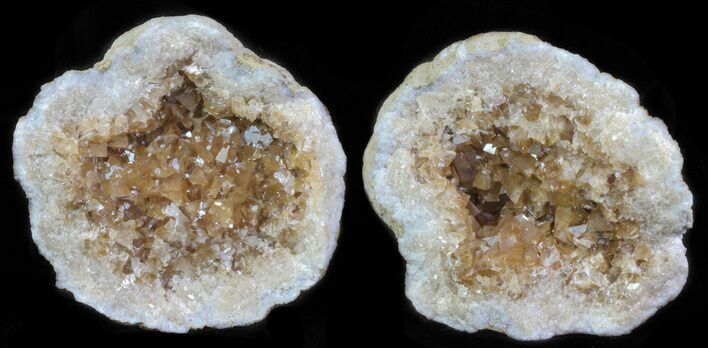 "2.9"" Keokuk Geode with Calcite Crystals - Missouri"