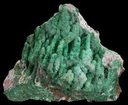 "Buy 5.4"" Malachite on Chalcedony Stalactites - Congo - #64654"