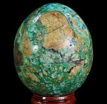 "Buy 2.35"" Polished Azurite, Chrysocolla & Malachite Egg - Peru - #65077"