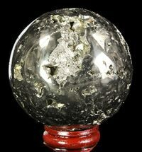 "Buy 2.4"" Polished Pyrite Sphere - Peru - #65113"
