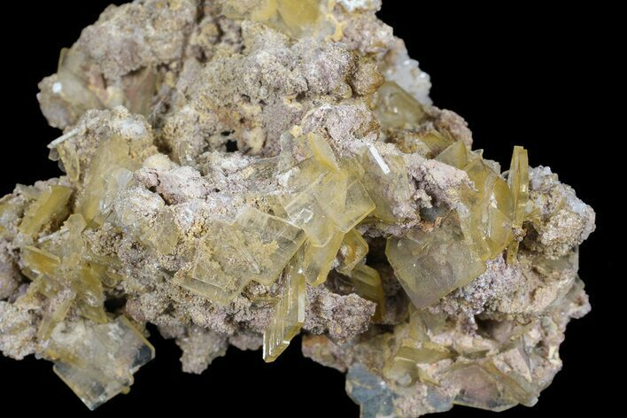 "3"" Yellow Barite Crystal Cluster - Peru"