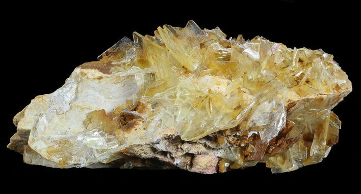 "3.2"" Yellow Barite Crystal Cluster - Peru"