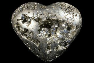"3.1"" Polished Pyrite ""Heart"" - Peru For Sale, #66491"