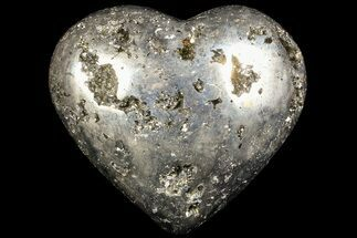 "Buy 3.2"" Polished Pyrite ""Heart"" - Peru - #66499"