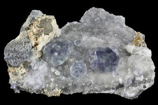 "Buy 2.7"" Blue Fluorite On Quartz - Fujian Province, China - #31558"