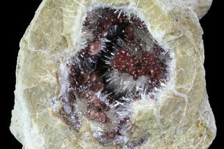 Aragonite & Kutnohorite Crystal Geode Half - Italy For Sale, #61766