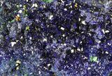 "2.6"" Sparkling Azurite Crystal Cluster with Malachite - Laos - #69722-2"