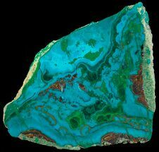 "Buy 2.2"" Polished Chrysocolla & Plume Malachite - Bagdad Mine, Arizona - #69511"
