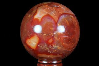 "2.65"" Colorful Carnelian Agate Sphere - Madagascar For Sale, #70952"